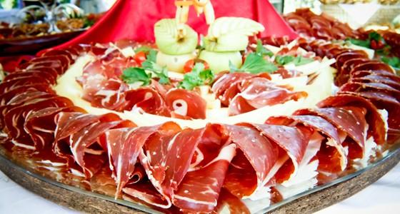 La trattoria Galinac noto per la qualità del prosciutto dalmata e cucina a vista