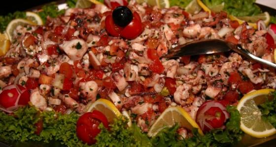 Kako sam gledala pripremu salate od rukole i kozica u konobi Galinac?